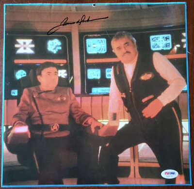 James Doohan PSA DNA Coa Autograph 11x11 Photo Hand Signed