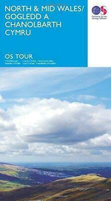 Tour  North & Mid Wales (OS Tour Map), Very Good Condition Book, Ordnance Survey