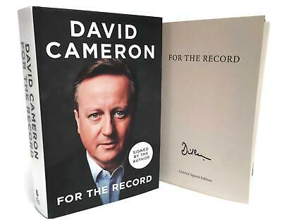 Signed Book - For the Record by David Cameron First Edition 1st Print