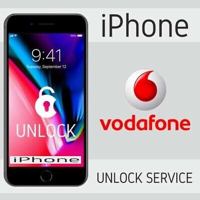 Vodafone UK IPhone 3G 3GS 4 4S 5 5C 5S 6 Only CLEAN imei FACTORY UNLOCK SERVICE