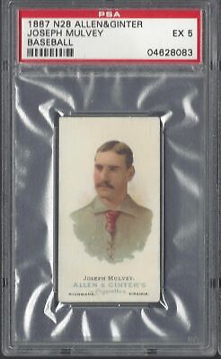 Allen & Ginter - The World's Champions N28 - Joseph Mulvey, Baseball - Psa 5