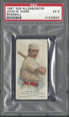 Allen & Ginter - The World's Champions N28 - John M Ward, Baseball - Psa 5