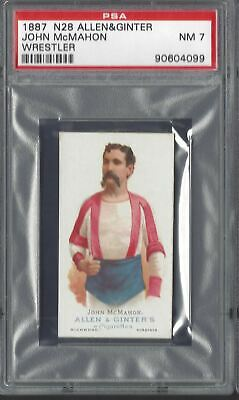 ALLEN & GINTER - THE WORLD'S CHAMPIONS N28 - JOHN McMAHON, WRESTLER - PSA 7