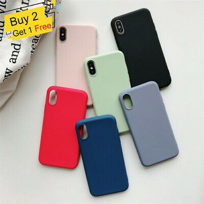 For Apple iPhone XS Max XR X 7 8 Plus 6 OEM Original Genuine Silicone Case Cover