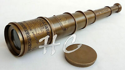 Nautical Brass Victorian Marine Old Antique Telescope 18 Maritime Spyglass Gift
