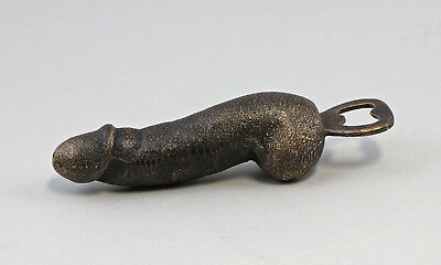 9977535 Cast Iron Figure Bottle Opener Phallus Rustic L18cm