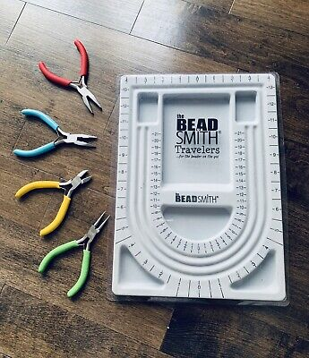 Beadtime Travellers Beading Board + 4 Pairs Of Pliers In Excellent Condition