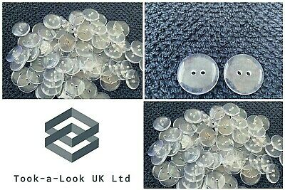 Packet 50 Lime Green Acrylic 12mm Round 2-Holed Sew On Buttons HA09505