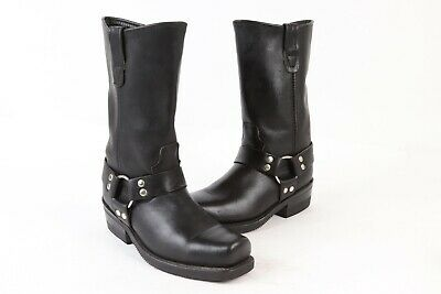 DOUBLE-H HH Black Leather Harness Motorcycle Boots USA Mens Size 6.5 D