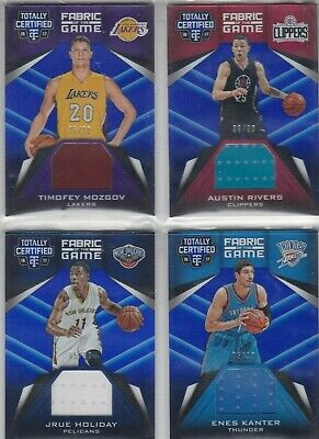 Timofey Mozgov (Lakers) 16/17 Certified Fabric of the Game Jersey-Card #99