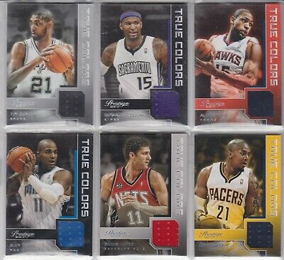 David West (Pacers) 12/13 Prestige True Colors Jersey-Card