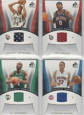 Richard Jefferson (Nets) 06/07 SP Game Used Edition Jersey-Card