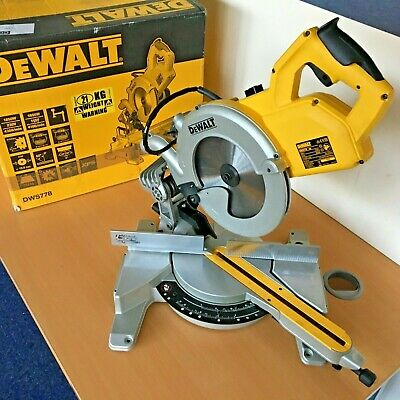 DeWalt DWS778 240V Compact Sliding Mitre Saw 250mm *BOXED*