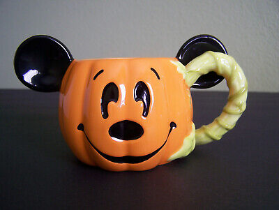 HTF DISNEY PARKS Mickey Mouse PUMPKIN HAPPY HALLOWEEN Mug / Cup UNUSED NEW!