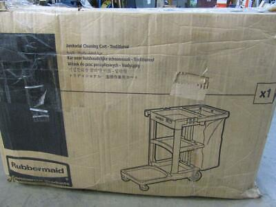 Rubbermaid Commercial Executive Janitor Cleaning Cart RCP1861430