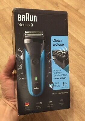 Braun Series 3 310s Wet & Dry Mens Rechargeable Electric Shaver Brand New Sealed
