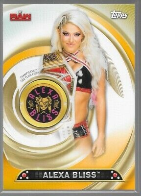 2019 Topps WWE Womens Division Gold Championship Patch Alexa Bliss 3/10 PC-AB