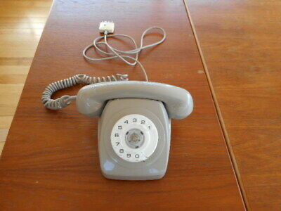 Vintage Retro Grey Dial Telephone Plastic Phone Great Condition P.m.g.