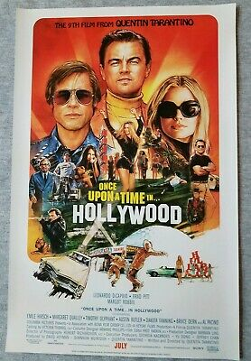Once Upon a Time in Hollywood 11x17 Promo Movie POSTER (2019) theater only