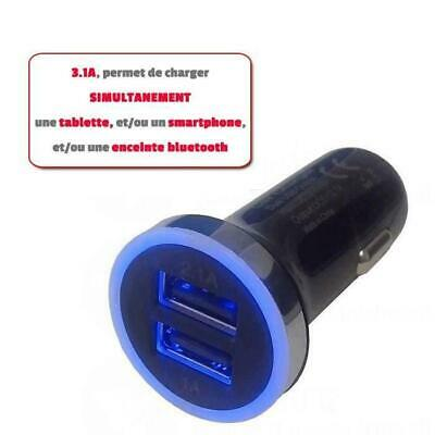 Chargeur allume cigare voiture - Double USB 3.1Ah Lineaire