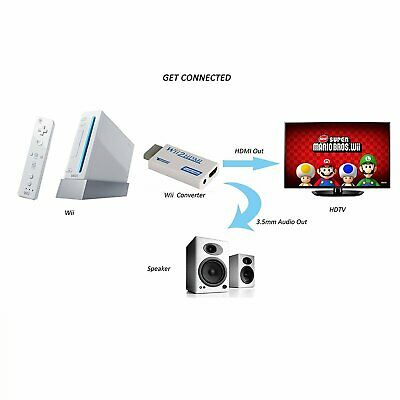 Stoga WII HDMI Converter / WII to HDMI Converter - Scales WII Signal to 720P -