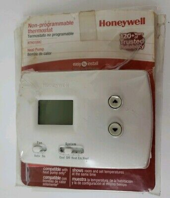 Honeywell RTH3100C Heat Pump Digital Non-Programmable Thermostat Open Package
