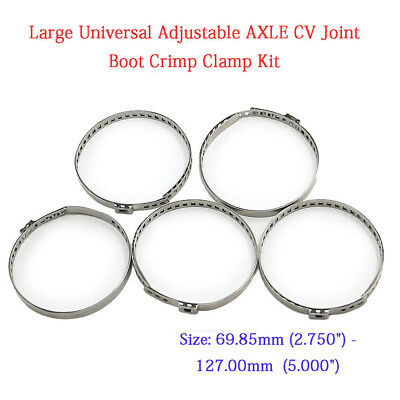 BMW 2000-3.2 10X DRIVE SHAFT CV JOINT BOOT KIT STAINLESS STEEL CLAMP CLIP