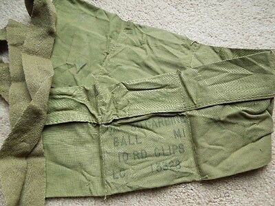 Vintage USGI OriginalUndated WW2 Type .30 M1 Carbine Khaki Six Pocket Bandoleer