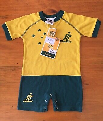 Wallabies Rugby Union , Baby , Romper , Jumpsuit , Size 1, BNWT