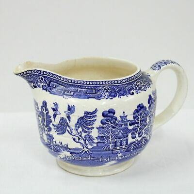 Old Blue Willow Vintage Jug Made In England #452
