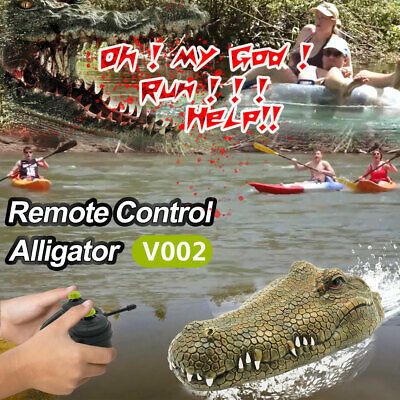 Flytec V002 RC Boat 2.4G Remote Control Electric Racing Boat Crocodile Head P0X6