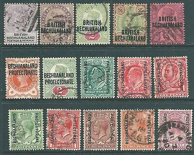 BRITISH BECHUANALAND used stamp collection 1888-1913