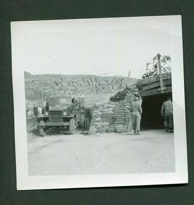 Vintage Photo WWII Army Truck in Bunker 985038