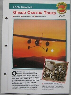 Aircraft of the World Card 10 , Group 8 - Ford Trimotor Grand Canyon Tours