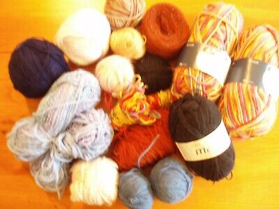 Knitting Yarn. Multi-coloured. Different plys. Approx 600g