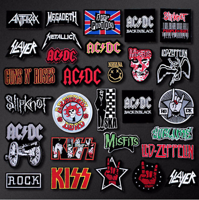 patch toppa Musica Metallica Guns Kiss AC DC Music Rock Nirvana termoadesiva