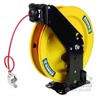 ATEX Approved Grounding Reel - 15m PVC-Coated Steel Cable (50A)