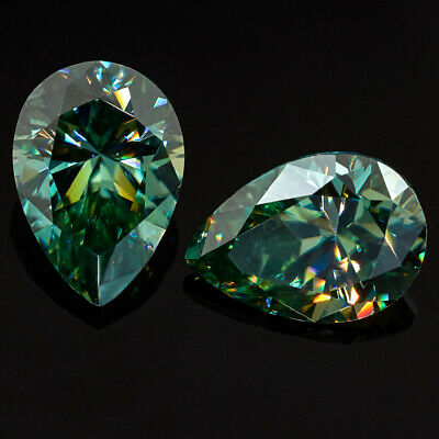 Loose Moissanite  Blue 4.69 Ct 11.10 X 11.00 mm Heart Brilliant Cut For Jewelry