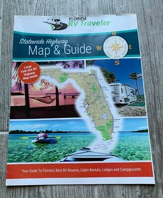 Florida Statewide Highway Map Guide RV Resorts Cabin Rental Campgrounds Traveler