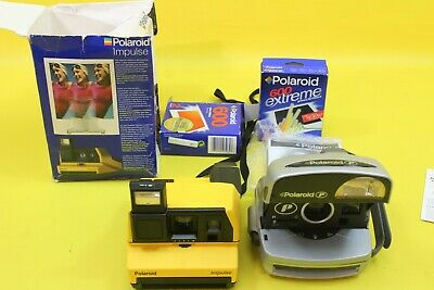 2 Polaroid Instant Film Cameras Look Clean & Tidy But Untested  BLA##17JWG