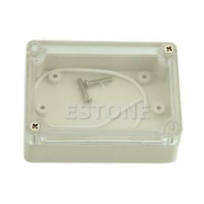 85x58x33 Waterproof Clear Cover Electronic Cable Project Box Enclosure CaseBLHK