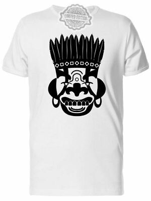 New Cool Tribal Mask, Ancient Men's Tee -Image By Shutterstock Usa Size