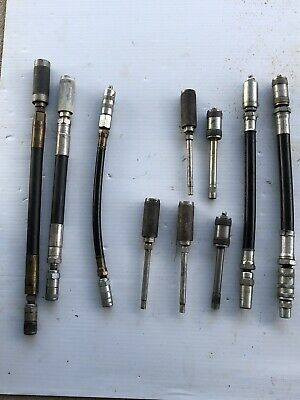LOT OF 10 GREASE GUN PINPOINT ADAPTERS FLEX HOSE ADAPTERS Lot #2 FREE SHIPPING!!
