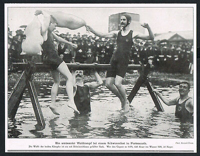 PORTSMOUTH, Ausschnitt 1910, Bademode, swimming competition, swimwear, /135