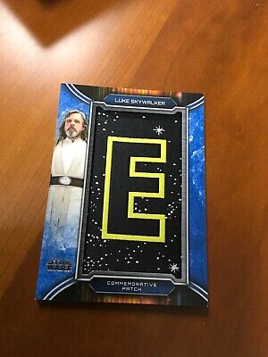 2019 Topps Star Wars Skywalker Saga Letter Patch Card Luke Np-Le # 34/50 Blue