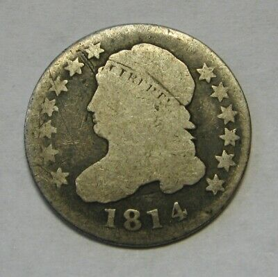 1814 Capped Bust Silver Dime Grading G/AG Bargain Priced FREE S&H  d47