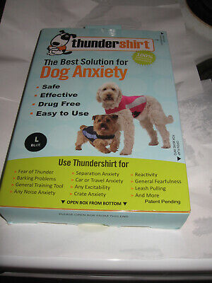THUNDERSHIRT POLO for Dogs RELIEVES STRESS & ANXIETY BLUE L