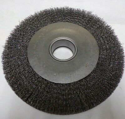"Weiler 10"" Crimped Wire Wheel Brush, 03596996 , 2"" A.h. Mounting, 4500 Max Rpm"