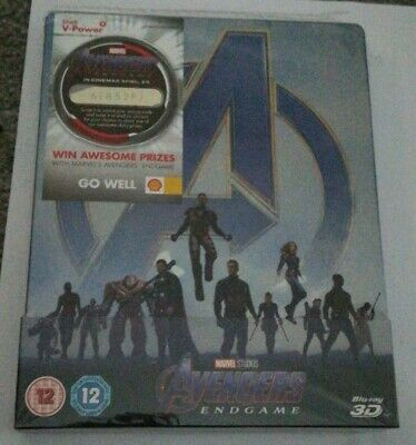Marvel - Avengers Endgame - Limited Edition Steelbook Blu-Ray & 3D Movie! + Card