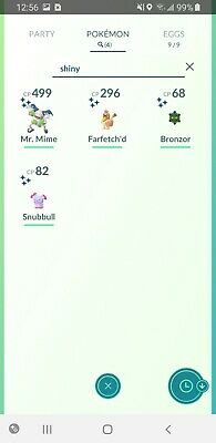 POKEMON GO account G23 w/shiny farfetch'd  mr mime bronzor snubbull